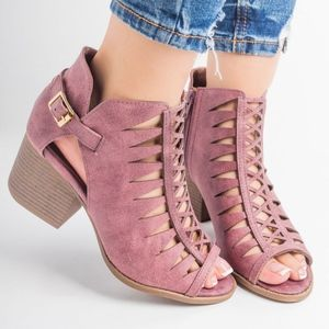 Shoes - VICTORIA Cut Out Bootie - ROSE TAUPE
